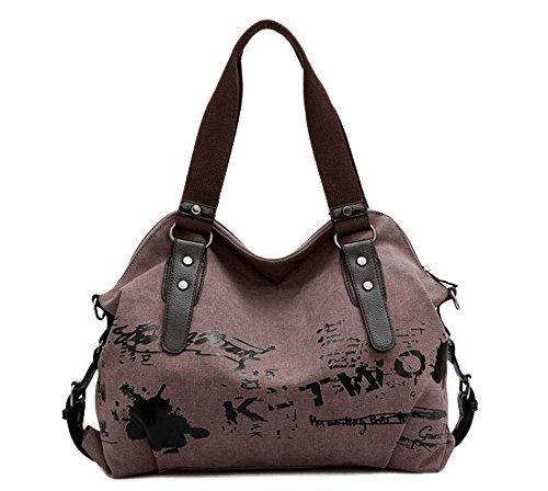 E-Bestar Damen Vintage Canvas Schultertasche Damen Handtasche Messenger Taschen Tolle Umhängetaschen Outdoor Lila
