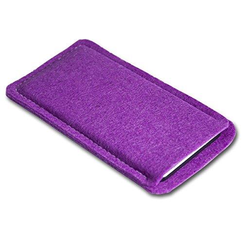 Filz Style Apple Iphone 7 Premium Filz Handy Tasche Hülle Etui passgenau für Apple Iphone 7 - Farbe schwarz purple