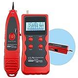 Red Ethernet RJ45 RJ11 STP UTP 5E 6E LAN Teléfono alambre coaxial BNC USB y la línea 1394 Cable Tester Checker Tracker