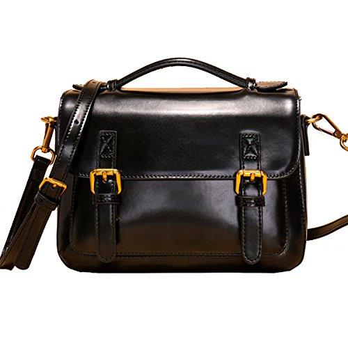 Yy.f Nuove Borse In Pelle Tracolla Messenger Borse In Pelle Borse Moda Nuova Borse In Pelle Di Moda 3 Colori Black