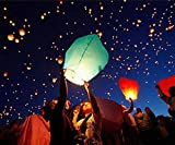 #10: Set of 5 Paper Sky Lanterns Flying Wishing Lamp Sky Candle Wishing Candle For Parties