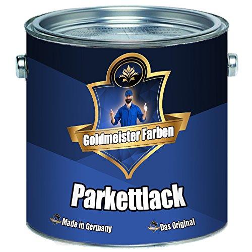 Goldmeister Farben PARKETTLACK glänzend seidenmatt farblos Holzversiegelung Trppenlack Parkettpflege Parkettöl (5 L, Seidenmatt)