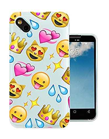 C0396 - Cool Fun Trendy Cute Kawaii Colourful Emoji Apps Emoticons Hearts Smiley Face Funny (9) Design Wiko Sunny / Wiko B-Kool Fashion Trend Protecteur Coque Gel Rubber Silicone protection Case