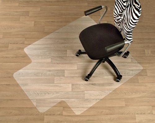 Floordirekt ECO V Bodenschutzmatte - 90x120cm - für Hartböden - mit Frontlippe