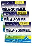 Govital - 3 MOIS - MELA-SOMMEIL Double Action: Endormissement et Sommeil de qualité - 3 Boites de 30 Gélules