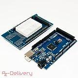 AZDelivery  Mega 2560 R3 Bundle mit Prototype Shield für Arduino Mega 2560 R3