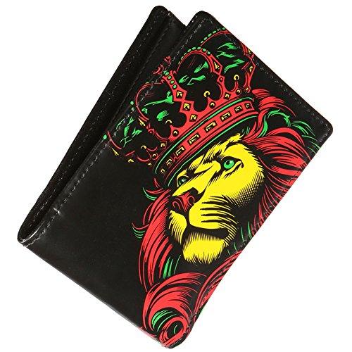 OG Abel Men's Crown Rasta Bifold Wallet Black
