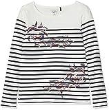 IKKS Junior T- Shirt MARINIÈRE Way, Fille, Ecru (Blanc cassé 19), Small (Taille Fabricant: S)