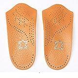 Unisex 3/4 Anti Fatigue Fußgewölbe Orthopädische Einlegesohlen Schuheinlagen gegen Plattfuß Hallux Valgus zur Schmerzlinderung