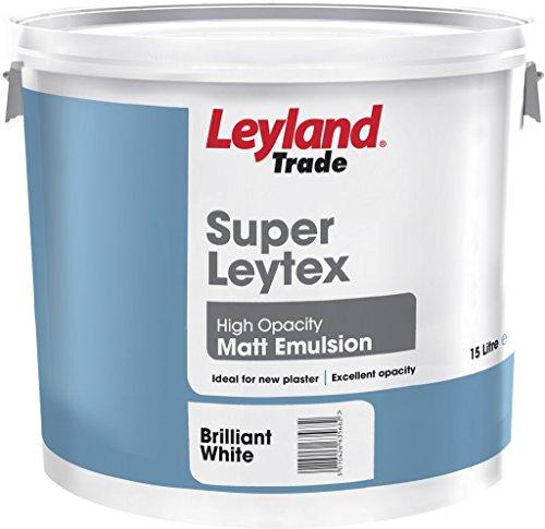 Leyland Super Leytex Matt 15L Brilliant White