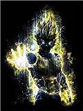 Posterlounge Leinwandbild 30 x 40 cm: Vegeta Fury von Barrett Biggers - fertiges Wandbild, Bild auf Keilrahmen, Fertigbild auf Echter Leinwand, Leinwanddruck