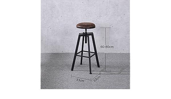 Sgabelli design sedia da bar rotante in ferro battuto loft retrò