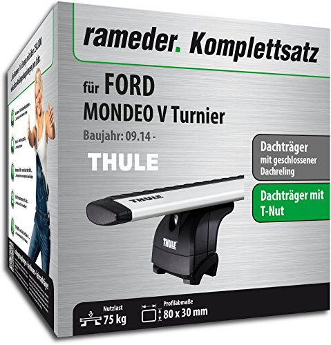 Rameder Komplettsatz, Dachträger WingBar für Ford MONDEO V Turnier (117676-13127-1)