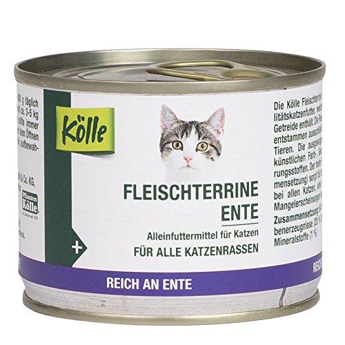 Kölle Nassfutter für Katzen Fleischterrine Ente, 200 g - Hühner Futter Napf