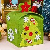 faliya Handmade Christmas Apple Boxes fai da te non tessuto Xmas Party Apple Torta scatola di Natale regalo Borse AS description 4#