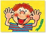 Fensterbild * Frecher Junge als Postkarte von Lutz Mauder
