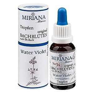 MirianaFlowers Water Violet 20ml Bachblüten Stockbottle