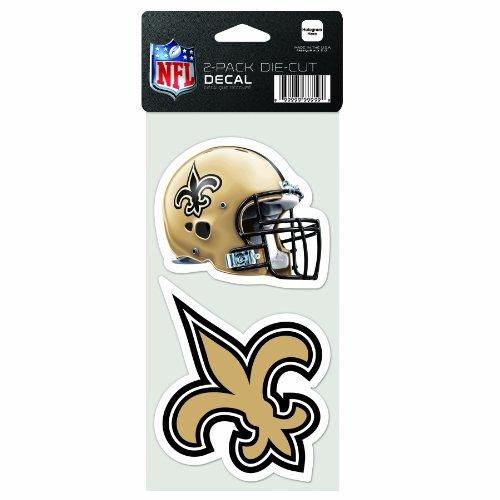 Wincraft NFL New Orleans Saints 2-Piece Die-Cut Decal, 4