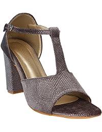Glitzy GALZWOMEN Sandal (40, Grey)