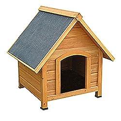 Hundehütte, Hundehaus, Massiv Holz, spitzdach