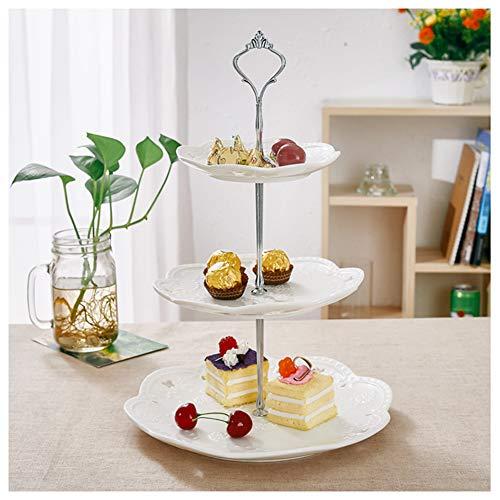 JoyFan DREI Ebenen Kuchen Stand Lagerung Rack Fruit Dessert Gemüse-Kuchen Candy Buffet Stand Hochzeit Home Party -