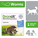 Universal Droncit Spot-On Tubes for Cats, 0.5 ml
