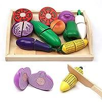 مصلقات العاب لقطع مطبخ خشبية على شكل خضروات مقطعة