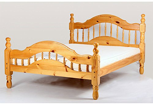 Heartlands Padova Pine Wooden King Size Bed