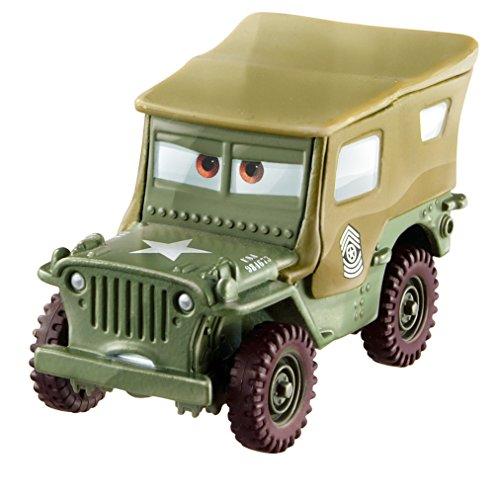 Mattel Disney Cars FJH95 3 Die-Cast Sarge - Die Fahrzeuge Cast