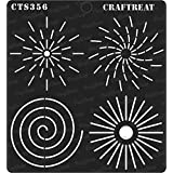 """thecraftshop CrafTreat Stencil Dot Mandala Outlines Reusable Painting Template for Art and Craft, Mixed Media, Wall, Home Decor, DIY Albums, Card Making and Fabric Paintings, 6""""X6"""""""