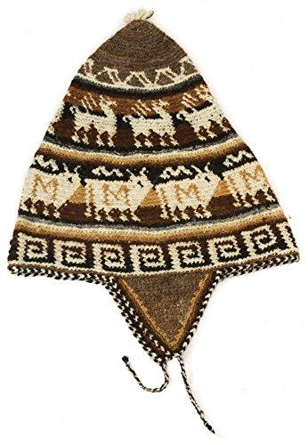 Gorro croché orejeras alpaca Marrón marrón Talla