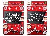 Naughty Elfen, die hier leben Fenster Zeichen Aufkleber Weihnachten Kid Kind Party Elf Prop Dekoration