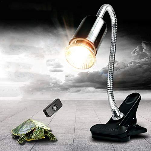 Basisago Schildkröte Wärmelampe, Schildkröte Wärmelampe für Aquarium Reptil mit Clip 360 ° Drehbar (Schildkröte Aquarium Lampe)