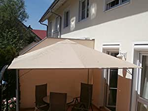 Ersatzdach für Stil-Pavillon 3x3m mit Anti-Wassersack-Drainage, beige / sandfarben