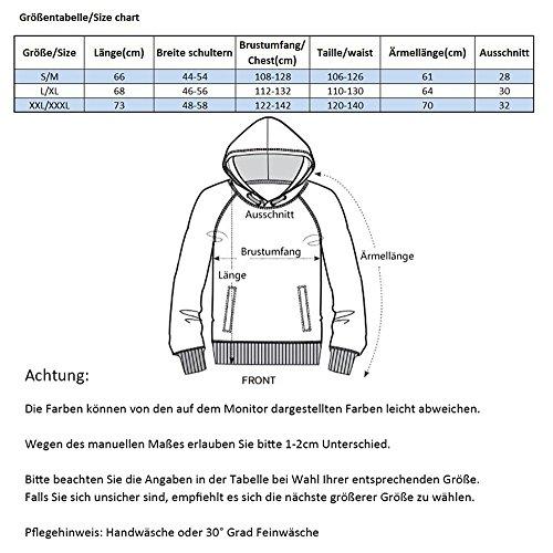 KamiraCoco Herren Pullover Slim Fit Kapuzenpullover 3D Druck Hoodie Weihnachten Langram Sweatshirt Kapuzenjacke Druck Wolf