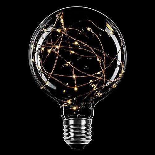 LED Deko Leuchtmittel Kupferkabel Globe G125 2,2W = 13W E27 klar extra warmweiß 2200K