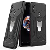 Ferilinso Case for Xiaomi Redmi Note 5, Hybrid Holster Defender Full Body Protection Heavy Duty Hard Bumper Case with Kickstand & Support Magnetic Car Mount Function for Xiaomi Redmi Note 5 (Black)