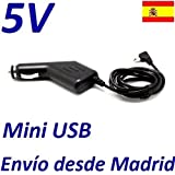 Cargador Coche Mechero 5V Mini USB Reemplazo Navigon 70 GPS Recambio Replacement