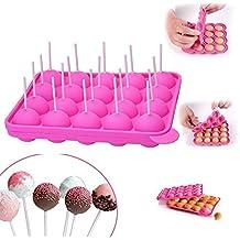 yiqi 20 de Silicona Bandeja Pop Cake Stick Mould - Libre de BPA, de Calidad