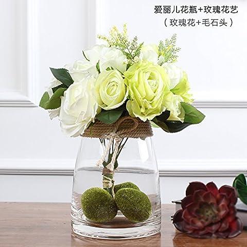 Maivas vase L'émulation en verre transparent - Hydrangea - Corne