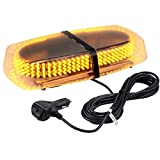 Justech 240 LED Lampeggiante Arancione LED Strobo Spia 12V Luci Lampeggianti Emergenza Fari Stroboscopiche con Base Magnetica e Doppia Interruttore per Auto Rimorchio Camion Furgone Van Caravane