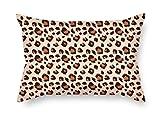 Bestseason 16x 24pulgadas/40por 60cm leopardo manta fundas de almohada doble lados es ajuste para asiento de coche Padre familia padre adolescentes Niñas Bar