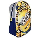 TW24 Disney Kinder Rucksack - Schultasche - Kinder Sporttasche - Kindergarten Rucksack - Rucksack 3D mit Motivauswahl (Minions)