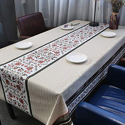 JKHSZKHH Tischtuch für PvcEuropäische PVC Rechteckige Tischdecke Für Tischabdeckung Wasserdicht Couchtisch Tuch Isolieren Plaid Floral Tv Schrank Dekor Abdeckung 137X100cm D -