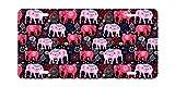 DQVWGK Elephants - Marco de Aluminio para matrícula de Coche con 4 Agujeros para Etiqueta de Coche DE 15 x 30 cm