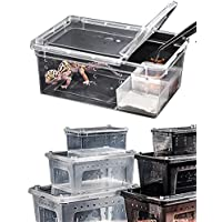 Wear-Beauty - Contenitore portatile per rettili, habitat per ragni, gechi, lumache, crostacei, rane, lucertole, tartarughe e serpenti
