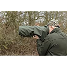 Lluvia/polvo cubierta de lente de cámara para Canon 100–400F5.6MK I & MK II, verde oliva & bolsa de nylon impermeable Reino Unido.