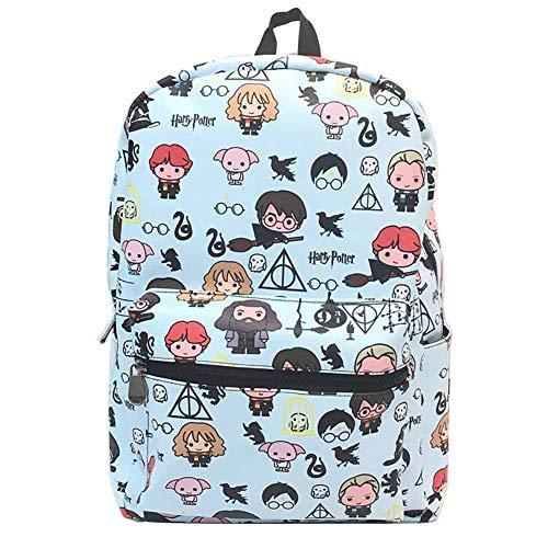 Zaino scuola superiore media ragazza zaino pu14 pollici leggero - harry potter school backpack 45 * 30 * 15cm,c