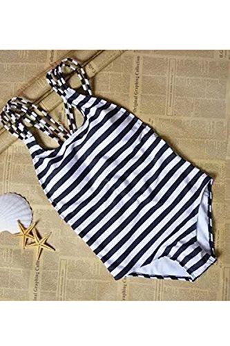 Le Donne Sexy Slim A Righe Con Siamese Bikini White