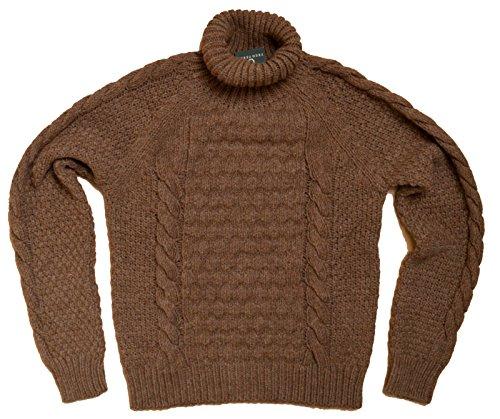 Maglia Jumper Uomo Men Fred Perry Made In Italy maglione Lana Alpaca Marro (l)